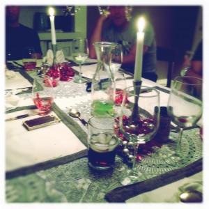 A wonderful New Year's Dinner with dear friends!