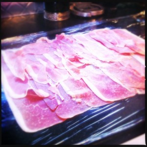 A sheet of prosciutto.  Does it get any better?!