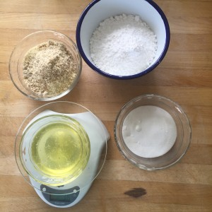 These 4 simple ingredients make up the macaron cookies - amazing!
